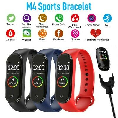 $ CDN20.06 • Buy 2020 M4 Smart Watch Fitness Bracelet Sports Pedometer Heart Rate Blood Pressure