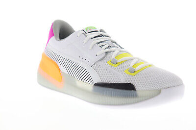 Puma Clyde Hardwood Retro Fantasy Mens White Mesh Athletic Basketball Shoes • 78.99£