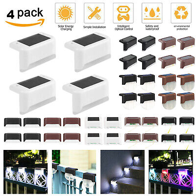 $ CDN7 • Buy 4Pack Solar LED Deck Light Outdoor Garden Yard Path Patio Stairs Step Fence Lamp
