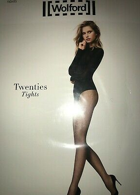 Wolford Twenties Net Tights  SIZE: Large Color: Cordovan   11889 - 10 • 21.46£