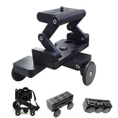 Foldable Table Dolly Track Wheels Video Stabilizer Rolling Slider F Camera Phone • 46.49£