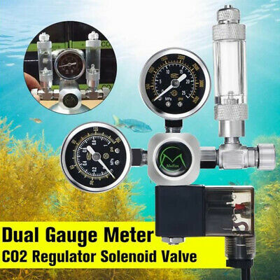 220V Aquarium CO2 Regulator Solenoid Check Valve Fish Tank Bubble Counter Air • 35.99£