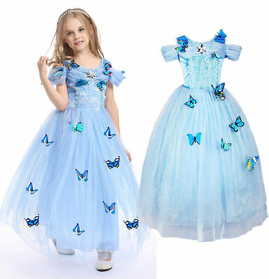 £15.79 • Buy Cinderella Dress Girls Princess Costume Party Dress Up Butterfly Kids Cosplay