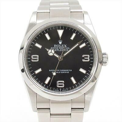 $ CDN8140.62 • Buy ROLEX Explorer 1 Watch Men's 114270 Automatic Black Stainless Steel SS Used