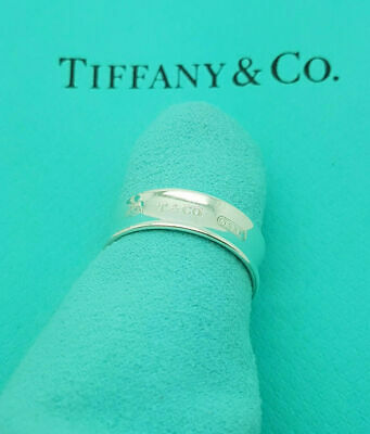 Tiffany & Co. Sterling Silver 1837 Band Ring Size V UK, 10.5 US Or 64 EU • 187.99£