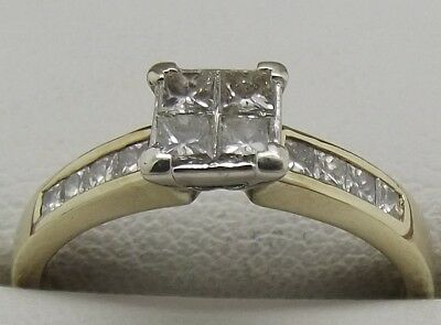 AU834 • Buy Solid 9ct Yellow Gold Natural Diamond Engagement/dress Ring Valued At $2029
