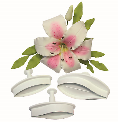 PME VEINED LILLY Flower Plastic Icing Plunger Plunger Cutter Sugarcraft Tool • 7.89£