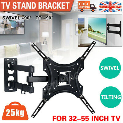 TV Wall Bracket Tilt & Swivel Monitor Mount For 32 37 40 42 43 55 50 Inch LCD • 11.99£