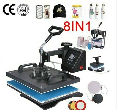AU416.72 • Buy 8in1 30*38CM Combo Heat Press Machine Sublimation Printer For Tshirt/mug/case