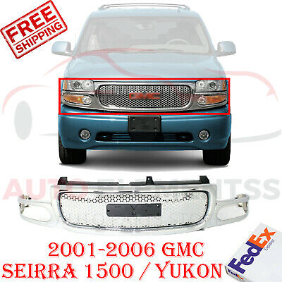 $235 • Buy Front Grille Chrome Shell & Insert For 2001-2006 GMC Seirra 1500 / Yukon
