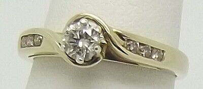 AU714 • Buy 9ct Yellow & White Gold Natural Diamond Engagement/dress Ring Size L - Val $1707