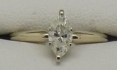 AU1134 • Buy 14ct Yellow Gold Solitaire Diamond Engagement/dress Ring Size J-valued At $2912