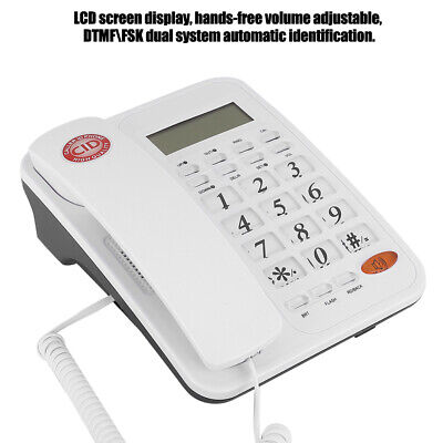 Corded Desktop Phone Landline Telephone With Caller ID For Home Office Business • 18.13£