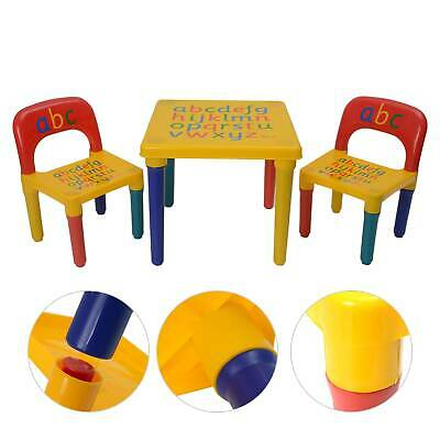 £28.29 • Buy ABC Alphabet Children Plastic Table And Two Chairs Set Gift - Kids Toddlers