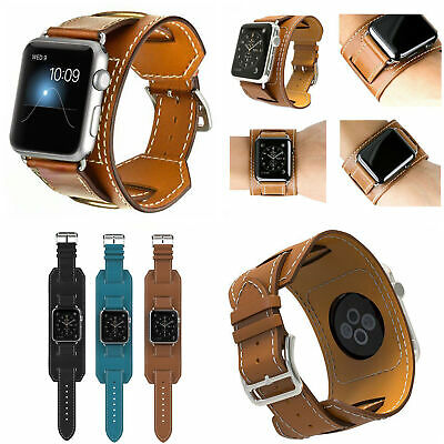 AU11.40 • Buy For Apple Watch Band Cuff Strap Iwatch Series 1 2 3  Leather