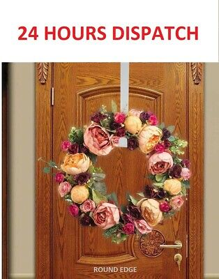 Christmas Winter Wreath Door Hanger Metal Hook Xmas Decoration Wreath Craft Home • 3.39£