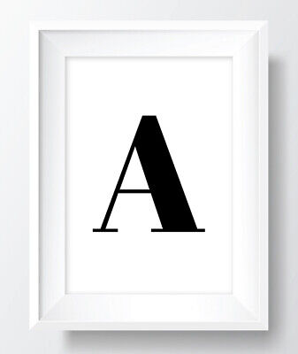 £2.99 • Buy Letter Initial A To Z - A4 A5 A6 Unframed ART PRINT POSTER Alphabet Typography