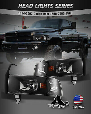 $84.99 • Buy For 94-01 Dodge Ram 1500 2500 3500 Headlights Replacement Assembly Front Lamps