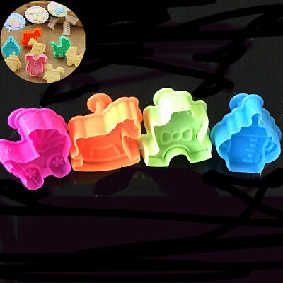 £2.14 • Buy Fondant 4pcs Mould  Cute Cake Biscuit Mold Baby Baking Cookies Plunger Cutter