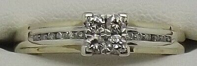 AU594 • Buy Solid 9ct Yellow & White Gold Natural Diamond Engagement/dress Ring - Size V