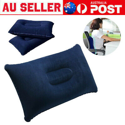 AU10.99 • Buy Inflatable Pillow Travel Air Cushion Camping Beach Office Car Head Rest Support