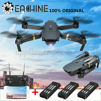 Eachine E58 RC Drone WIFI FPV Foldable Quadcopter 2MP Camera High Hold+3 Battery • 51.76£