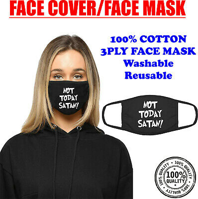 Not Today Satan Face Mask & Cover Mouth Protect Washable Funny Bianca Del Rio • 4.99£