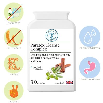 Paratox Cleanse Complex | Traditional Herbal Parasite Detox Cleanse  | 90 Caps • 17.99£
