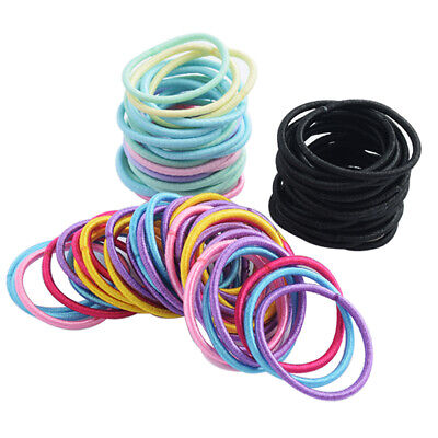 $ CDN2.19 • Buy 100pcs Hair Ties Cute Elastic Rope Hair Bands Ponytail Holder For Girls Kids E7