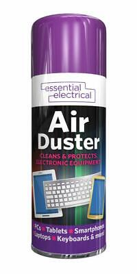 COMPRESSED AIR DUSTER 400ml CLEANS PROTECTS ELECTRICAL EQUIPMENT MAINTENANCE • 4.99£