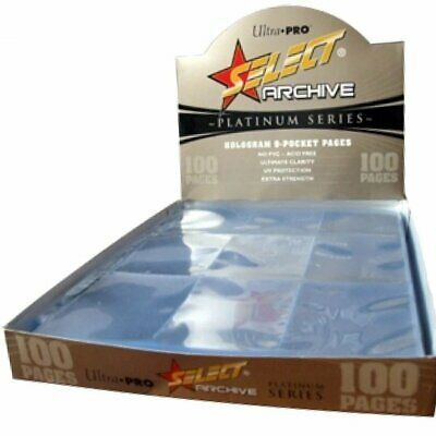 AU30 • Buy BOX OF 100 SELECT Ultra Pro 9 POCKET CARD PAGES