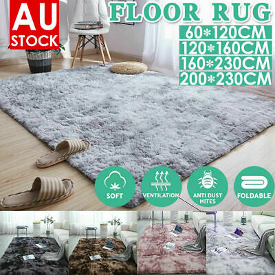 AU39.99 • Buy Rectangle Shaggy Carpet Bedroom Living Room Floor Pads Mat Soft Fluffy Area Rugs