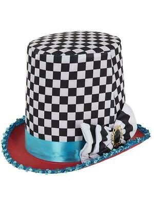 Halloween Fancy Dress Mad Hatter Top Hat Chequered • 6.99£