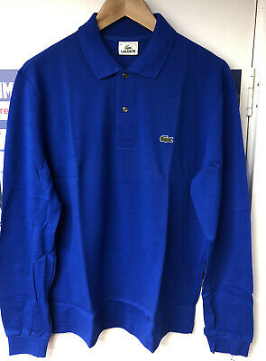 Lacoste Polo Shirt Mens Royal Blue Long Sleeve - Sizes 2 / 3 / 4 / 5 / 6  • 39.99£