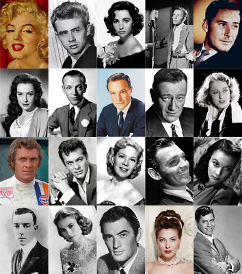 Vintage Movie Star Wall Art Golden Age Of Film Cinema Hollywood Greats 200gsm • 3£