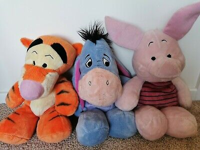 Disney Whinnie The Pooh Plush Bundle Tigger Eeyore And Piglet Cuddly Toys  • 14.99£