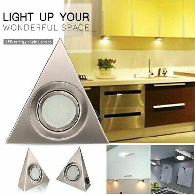 1-6x LED Triangle Light Kitchen Under Cabinet Cupboard Counter Downlight Lights • 19.59£
