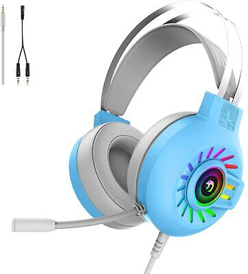 AU35.05 • Buy Gaming Headset Mic RGB Headphones Surround For PC Mac PS4 Xbox One Laptop 3.5mm