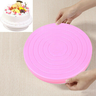 Small Cake Revolving Turntable Decor Stand Platform Rotating Baking Tools • 4.67£