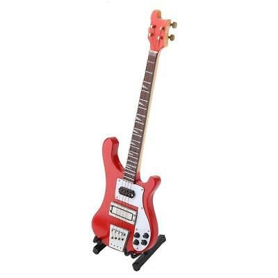 $ CDN23.45 • Buy Mini Bass Guitar Replica With Stand And Case Instrument Model Ornaments