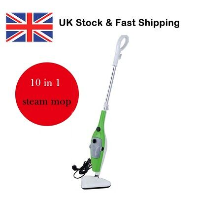 10 In 1 Steam Mop Multi Functional Steamer Use H2O Water Cleaner Floor Kitchen  • 26.90£