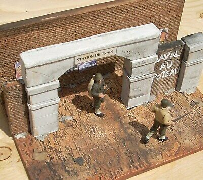 $22.95 • Buy Dioramas Plus DP13 To Trains 1/35 Scale Model Kit Diorama Base + Rubble
