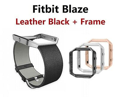 $ CDN13.60 • Buy Fitbit Blaze Accessory Replacement Black Leather Wrist Band & Frame