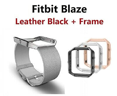 $ CDN23.61 • Buy Fitbit Blaze Accessory Replacement Gray Leather Wrist Band & Frame