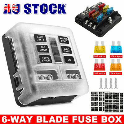 AU21.95 • Buy 23pcs Blade Fuse Box Block Holder 6 Way LED Indicator Light 12V 32V Car Marine