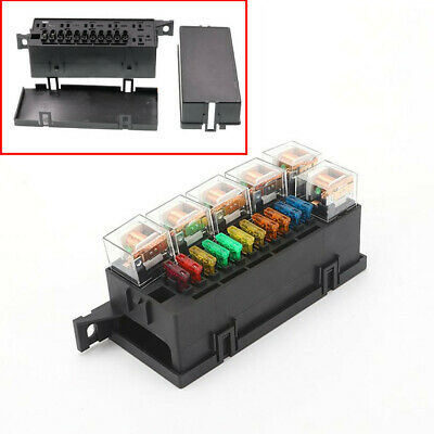 $35.90 • Buy Car 11 Way Fuse Box 5-Pin 12V 80A Relay + Fuses Universal With Waterproof Cover