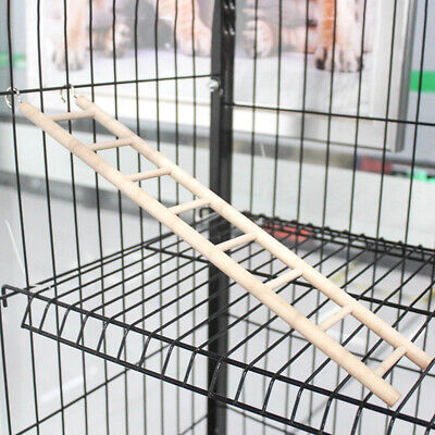 Bird Hamster Wooden Climb Ladder  Budgie Mouse Rat Hanging Swing Cage Toys • 2.59£