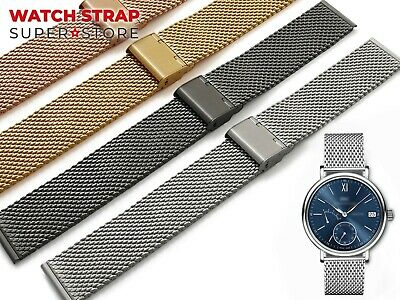For OMEGA Watch Mesh Milanese Metal Strap Band Bracelet Buckle Clasp SeaMaster • 24.90£
