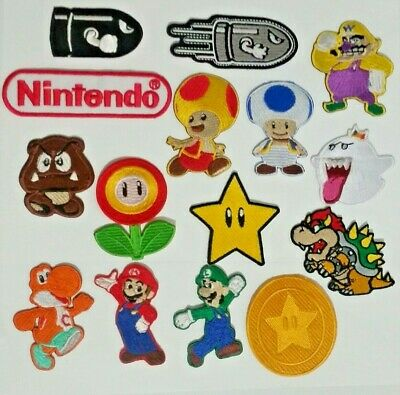 £1.99 • Buy Super Mario Bros Game Comic Cartoon Patches Badges Iron On Sew On