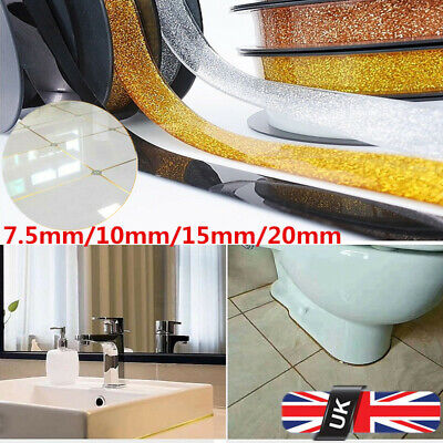 Ceramic Tile Mildewproof Gap Tape Self-Adhesive Ceiling Edge Deco Trim Strips UK • 12.26£